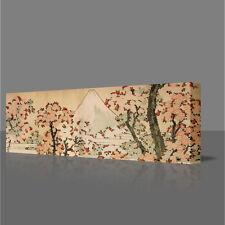 "Hokusai Monte Fuji Cherry ALBERI & fiori grandi 16"" foto incorniciata tela art"