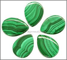 Natural Malachite Pear Pendant Bead 22x30mm AAA #73049
