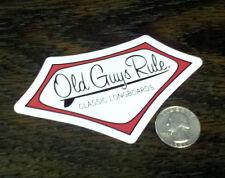 Genuine OLD GUYS RULE Classic Longboards Surf Sticker Car Window Decal Vinyl