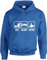 Eat Sleep Anime inspired Printed Hoodie Men Women Casual Hooded Hoody Pullover