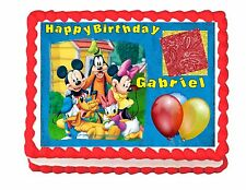 Mickey Mouse Clubhouse edible cake image frosting sheet - personalized free!