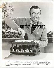 Rare FRED ROGERS Mister Rogers' Neighborhood VINTAGE ORIGINAL PHOTO trolley
