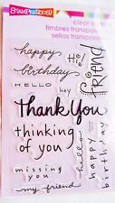 Happy Messages Card Sentiments Clear Acrylic Stamp Set Stampendous Stamps SSC109