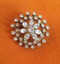 Rhinestone Gold Vintage Costume Brooches/Pins