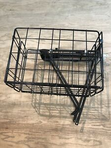 "Planet Bike Eco Rack Bicycle Rear Carrier Aluminum Black 26"" w/ Folding Basket"