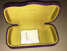 Authentic New GUCCI Sunglasses Hard Case Purple Velvet