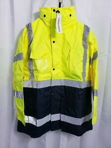 NWT WW Concern For Safety 3 In 1 Reversible High Visibility Jacket Men's LARGE