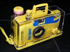 NEW Snap Sights Underwater 35mm Camera & Waterproof Case Yellow Sports Reuseable