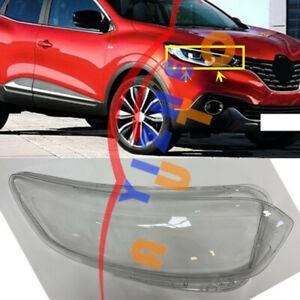 1*Right Side Transparent Headlight Cover+Glue Replace For  Renault Kadjar 16-18