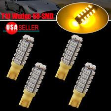 4x T10 68-SMD Trailer LED Backup Reverse Light Bulb Amber Yellow W5W 192