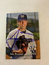 Jake Drossner 2015 Signed Helena Brewers Team Card