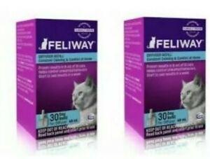 Feliway Calming Pheromone CLASSIC Cat  Diffuser - (2) ct 30 Day Refills - 48 ml