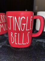 "New RAE DUNN Holiday Christmas LL ""JINGLE BELLS"" Red Mug By Magenta"