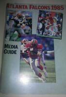 1985 Atlanta Falcons NFL Football Media GUIDE near mint on the inside for media