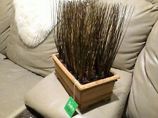 "New Artificial teters Burgundy Zebra grass plant Decoration 11"" H # PRE- 0524"