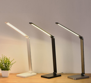 Desk lamp, Eye-Caring, Dimmable Touch Control with USB Powered Port - Black