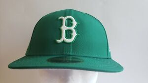 🔥OFFICIAL BOSTON RED SOX MLB NEW ERA GREEN LOW MENS FITTED 7 1/2 Hat NEW⚾️