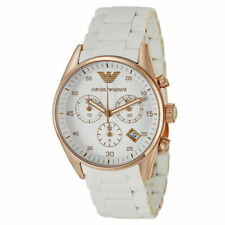 100 Emporio ARMANI AR5920 White Rose Gold Ladies Watch