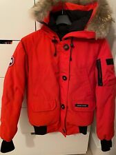 Canada Goose Chilliwack Red Fur Trimmed Jacket