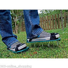 Garden Lawn Grass Aerator Aerating Shoes Sandals 13 x 5cm Spikes Easy Strap On