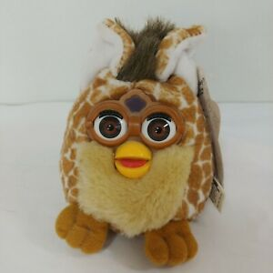 Furby Buddies HAPPY SLEEP Bean Bag Plush GIRAFFE Tiger 70-729-03 1999 Vintage