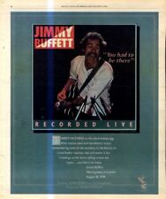 "(RSTA3) POSTER/ADVERT 13X11"" JIMMY BUFFET : YOU HAD TO BE THERE RECORDED LIVE"