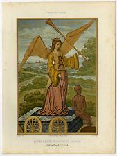 Antique Print-FAME-TRIUMPH-DEATH-TRUMPET-Ciappori-Guire-1858