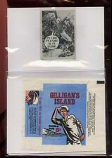 1965 GILLIGAN'S ISLAND  gum wrapper& type trading card Fleer  vintage RARE!!!!!!