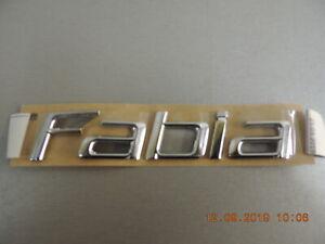 Original Skoda Fabia Lettrage Emblème Hayon Signe Étiquette 5J6853687739