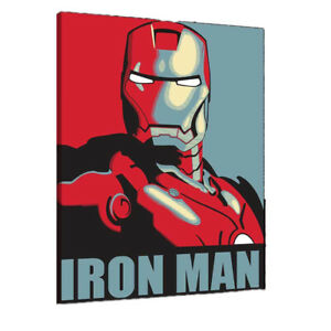 Superhero Iron Man marvel canvas wall art Wood Framed Ready to Hang XXL