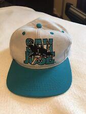 San Jose Sharks Vintage Snapback Hat #1 Apparel Excellent Condition