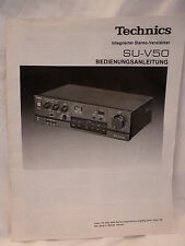 Anleitung BDA Technics Verstärker SU-V 50 vintage Hi-Fi Oldie users manual