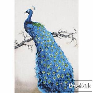 DIAMOND DOTZ - Blue Peacock Facet Art Kit - 60 X 84cm - DD13.012