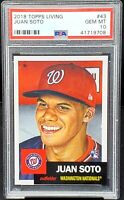 2018 Topps Living Nationals RC JUAN SOTO Rookie Baseball Card PSA 10 GEM Low Pop