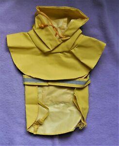 """Fashion ( Puddles ) Raincoat Waterproof Pet Yellow XS 8"""" Made of 100% PVC"""
