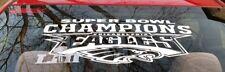 Philadelphia Eagles Super Bowl 52 Champions Vinyl Decal Sticker  NEW