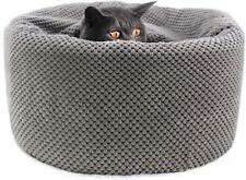 Winsterch Round Cat Beds Soft,Washable Warming Pet Sofa Kitten Bed, Pet Beds