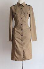 MAXMARA WEEKEND en Soie en coton à manches longues Safari utilitaire Chemise Robe Taille UK