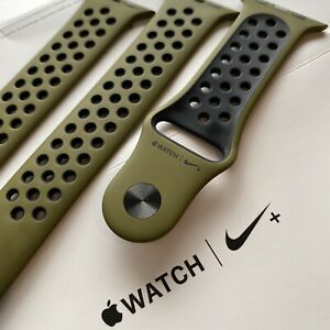 Apple Nike Olive Flak Black 44mm Sport Band