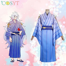 Fate Grand Order FGO×Google Play Merlin Cosplay Costume Kimono Custome Outfits