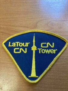 Obsolete C.N. Tower Protective Services Patch La Tour CN Toronto Canada Dark