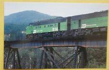 Burlington Northern # 614 F9 Crossing Bridge in Mt Train Postcard