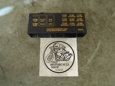 2006 HARLEY-DAVIDSON FXSTB NIGHT TRAIN FUSE BLOCK COVER WITH GRAPHICS