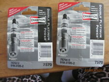 NEW 4 pc Champion Double Platinum Spark Plugs 7570