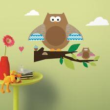 OWLS TREE BRANCHES 44 BiG Wall Decals Baby Nursery Room Decor Sticker Decoration
