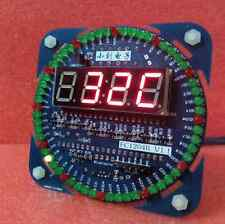 DIY DS1302 Rotating LED Electronic Digital Clock Kit 51 SCM Learning Board Gift