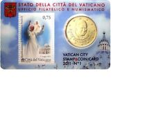 ** Coincard 2011 Vaticaan Vaticano City Stamp&Coin card No.1 75/50 cents**