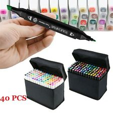 40 Color Set Touch Five Alcohol Graphic Art Twin Tip Pen Marker Product Design