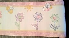 LAMBS & IVY DREAM MAGIC GARDEN FLOWERS  NURSERY PREPASTED WALL BORDER ROLL  NEW