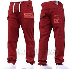 Mens Designer Chinos Stretch Cuffed Joggers Pants Slim Fit Jeans All Waist Sizes